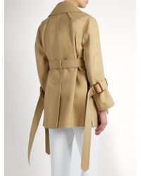 CALVIN KLEIN 205W39NYC - Natural Kenneth Belted Trench Coat - Lyst