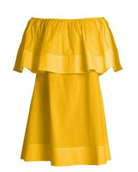 Apiece Apart - Yellow Piper Petal Off-the-shoulder Dress - Lyst