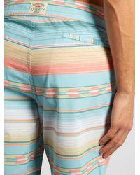 Faherty Brand - Blue Geometric-striped Print Swim Shorts for Men - Lyst