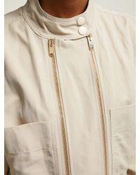 Stella McCartney - Natural Zipped Twill Boiler Suit - Lyst