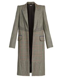 Alexander McQueen - Multicolor Patchwork-checked Padded-shoulder Coat - Lyst