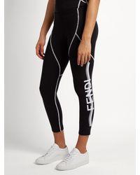 Fendi | Black Side-logo Performance Leggings | Lyst