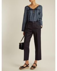 A.P.C. - Black Amalfi Stretch-cotton Cropped Trousers - Lyst