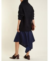 Acne - Blue Ashia Oversized Roll-neck Alpaca-blend Sweater - Lyst