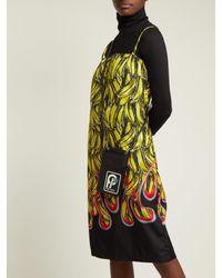 Prada - Black Logo-patch Saffiano-leather Cross-body Bag - Lyst