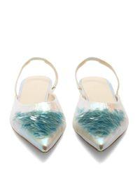 Delpozo - Multicolor Point-toe Sequin-embellished Slingback Flats - Lyst