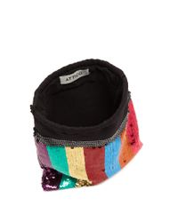 Lyst Attico Sequin Embellished Drawstring Pouch