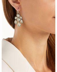 Bottega Veneta - Green Chandelier Oxidised-silver Earrings - Lyst