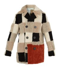 Off-White c/o Virgil Abloh - Natural Checkered Shearling Coat for Men - Lyst