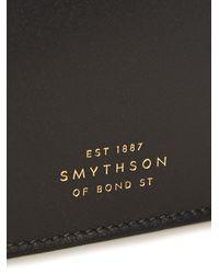 Smythson - Black Hampstead Slim Leather Cardholder for Men - Lyst