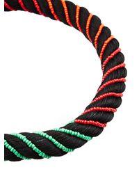 Aurelie Bidermann - Black Maya Beaded Silk Necklace - Lyst