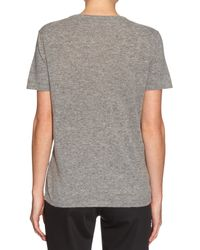 Tomas Maier - Gray Short-sleeved Cashmere-knit Top - Lyst