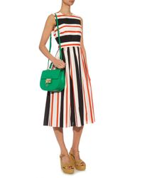 Dolce & Gabbana - Green Monica Leather Shoulder Bag - Lyst