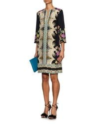 Etro - Black Paisley-Print Silk Tunic Dress - Lyst