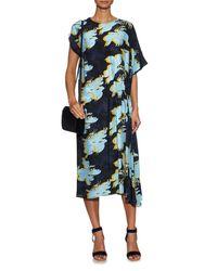 Cedric Charlier - Multicolor Floral -print Silk Dress - Lyst