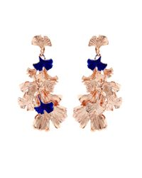 Aurelie Bidermann   Pink Ginkgo Lacquered Rose Gold-plated Clip-on Earrings   Lyst