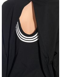 Y-3 - Black Open-back Jersey Top - Lyst