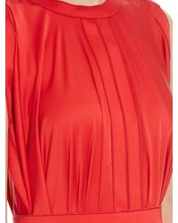 Maison Rabih Kayrouz - Red Pleated Silk-charmeuse Gown - Lyst
