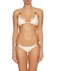 Heidi Klein - Natural Tahiti Triangle Bikini Top - Lyst