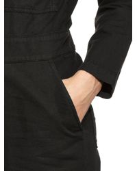 Aries - Black Cat-embroidery Cotton-blend Jumpsuit - Lyst