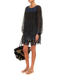 Thierry Colson - Blue Poppy Polka-Dot Dress - Lyst