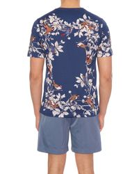 Dolce & Gabbana - Blue Bird-print Cotton-jersey T-shirt for Men - Lyst