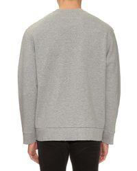 Golden Goose Deluxe Brand - Gray Mel Crew-neck Cotton-jersey Sweatshirt for Men - Lyst