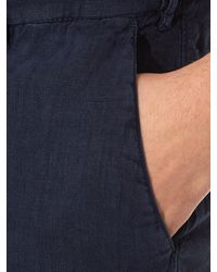 J.W. Brine - Blue Mike Slim-leg Linen Trousers for Men - Lyst