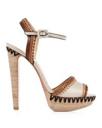 Christian Louboutin | White Trepi Platform Sandals | Lyst