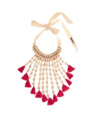 Figue - Multicolor Sina Shell And Tassel Necklace - Lyst