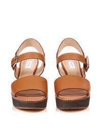 Max Mara - Orange Peblo Sandals - Lyst