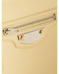 Balenciaga - Natural Metal Plate Leather Shoulder Bag - Lyst