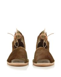 Brother Vellies - Brown Congo Wraparound-ankle Sandals - Lyst