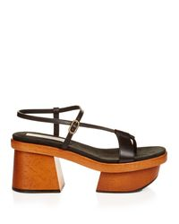 Stella McCartney | Blue Altea Faux-leather Block-heel Platform Sandals | Lyst
