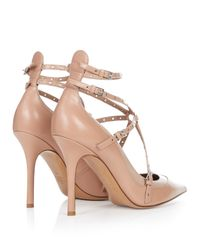 Valentino - Pink Love Latch Leather Pumps - Lyst