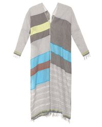 lemlem - Natural Eva Cotton-blend Kaftan - Lyst