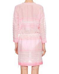 lemlem - Pink Almaz V-neck Striped Dress - Lyst