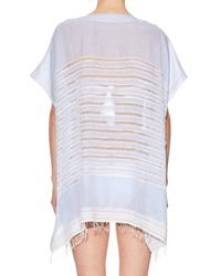 Lemlem - White Alma Open-weave Stripe Top - Lyst