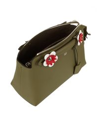 Fendi - Brown Olive Leather Floral Detail 'by The Way' Small Convertible Top Handle Bag - Lyst