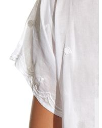 Thierry Colson - White Paola Dandelion Embroidered Cotton Dress - Lyst