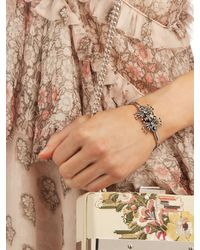 Alexander McQueen - Metallic Goldtone Swarovski Crystal Bracelet - Lyst