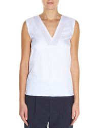 Golden Goose Deluxe Brand - White Josie V-neck Sleeveless Top - Lyst