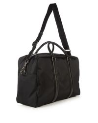 Dolce & Gabbana - Black Leather-trimmed Nylon Holdall for Men - Lyst