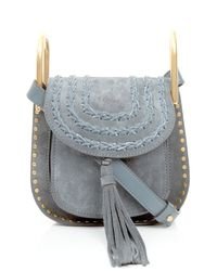 Chloé | Blue Hudson Mini Suede Cross-body Bag | Lyst