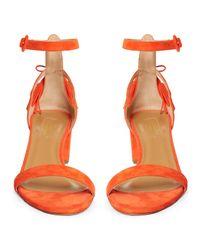 Aquazzura - Orange Pixie Tassel-back Suede Sandals - Lyst