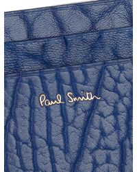 Paul Smith - Blue Grained-leather Cardholder for Men - Lyst