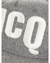 McQ | Gray Logo-embroidered Baseball Cap for Men | Lyst