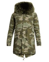 Mr & Mrs Italy | Multicolor Fur-Lined Canvas Parka | Lyst