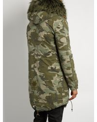 Mr & Mrs Italy - Multicolor Fur-Lined Canvas Parka - Lyst