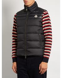 Moncler - Blue Dupress Quilted Down Gilet for Men - Lyst